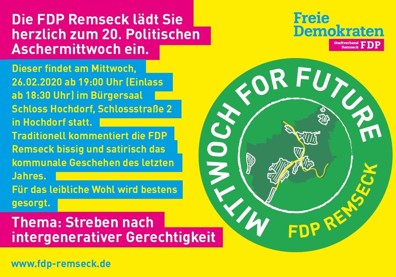 20. kommunalpolitischer Aschermittwoch der FDP-Remseck