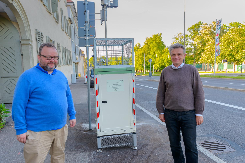 Verkehrspolitischer Sprecher der FDP/DVP-Fraktion, Christian Jung MdL und Bundestagskandidat Oliver Martin