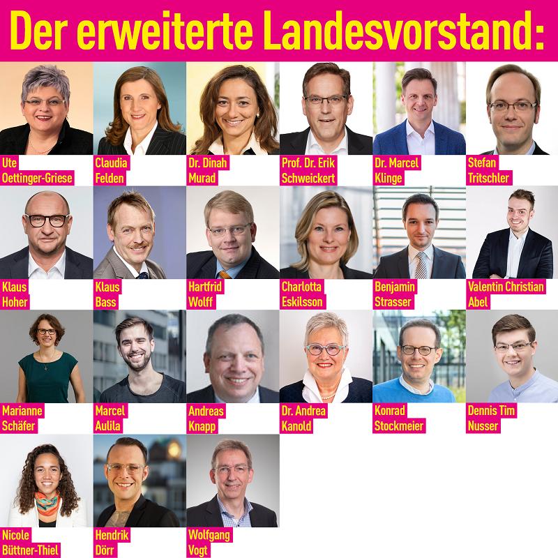 FDP Baden-Württemberg: Der erweiterte Landesvorstand